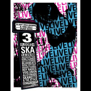 3 Floors Of Ska screen printed poster-0
