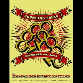 Bouncing Souls Knuckles Screen Printed Poster-0