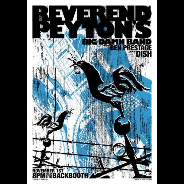 Reverend Peyton's Big Damn Band Screen Printed Poster -0