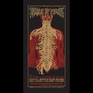 Cradle of Filth screen printed poster-0