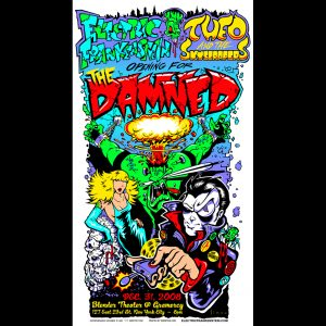 The Damned screen printed poster-0