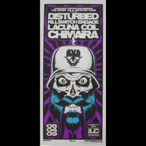 Disturbed/Chaimira screen printed poster-0
