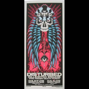 Disturbed/Killswitch Engage screen printed poster-0