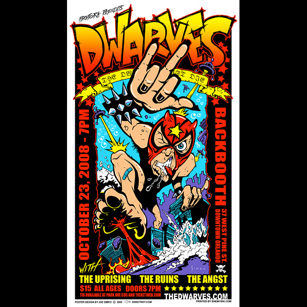 Dwarves screen printed poster-0