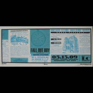Fall Out Boy blue screen printed poster-0