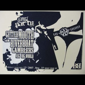 Gutter Mouth screen printed poster-0