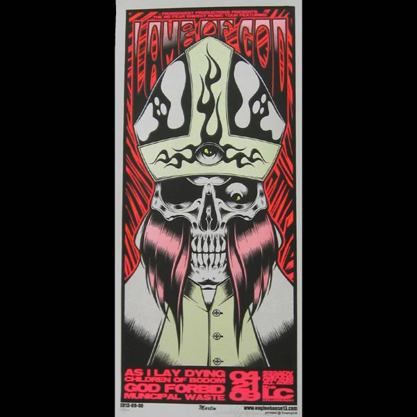 Lamb of God screen printed poster-0