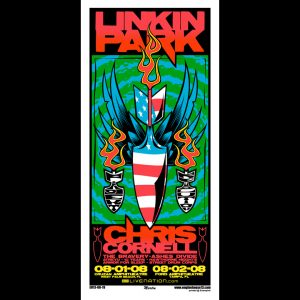 Linkin Park screen printed poster-0