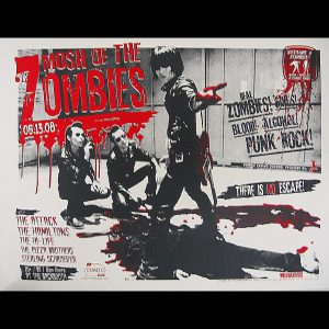 Mosh of the Zombies screen printed poster-0
