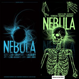 Nebula screen printed poster-0