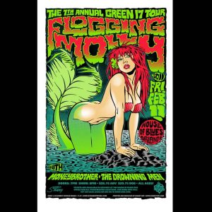 Flogging Molly Screen Printed poster -0