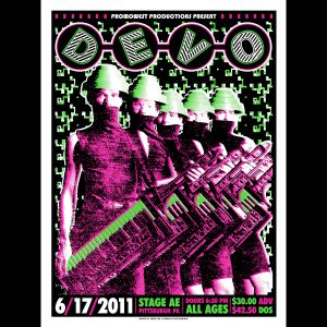 Devo Screen Printed Poster-0
