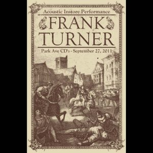 Frank Turner Screen Printed Poster-0