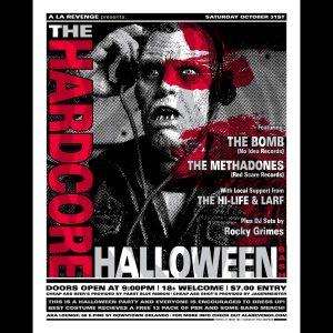 Hardcore Halloween Screen Printed Poster -0