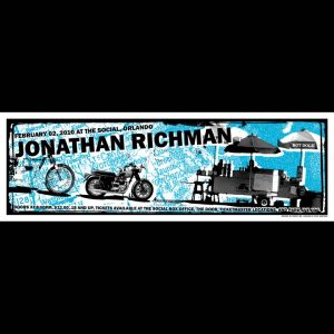 Jonathan Richman Screen Printed Poster-0