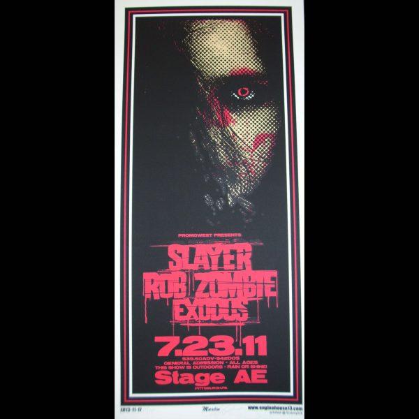 Slayer Screen Printed Poster-0