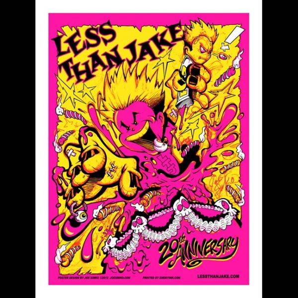 Less Than Jake 20th Anniversary Poster Designed by Joe Simko-0