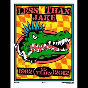 Less Than Jake 20th Anniversary Poster Designed by Mike Martin-0