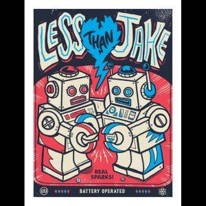 Less Than Jake 20th Anniversary Robots Poster-0