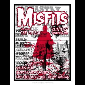 Misfits Hampton 2012 Screen Printed Poster-0