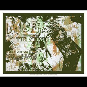 Misfits Screen Printed Poster New Britain CT 2012-0