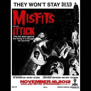 Misfits Oakland 2012 Screen Printed Poster-0