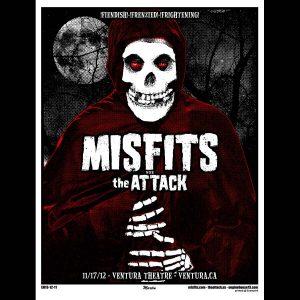 Misfits Ventura 2012 Screen Printed Poster-0