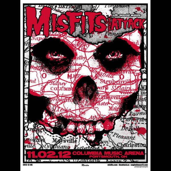 Misfits Screen Printed Portsmouth OH 2012-0