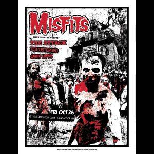 Misfits Lancaster PA 2012 Screen Printed Poster-0
