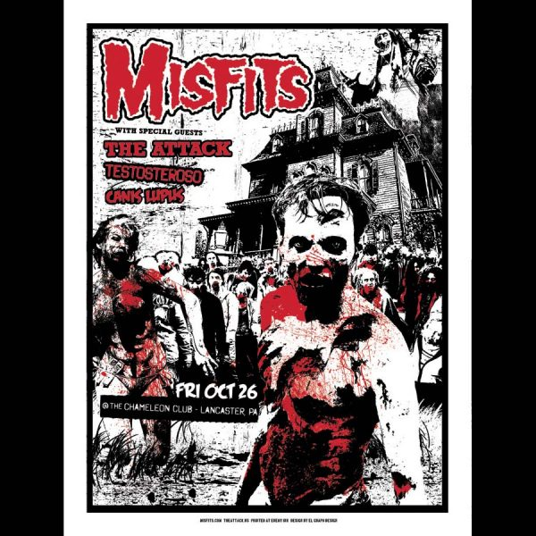 Misfits Lancaster PA 2012 Screen Printed Poster-0