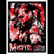 Misfits Eugene, OR Screen Printed Poster 2012-0