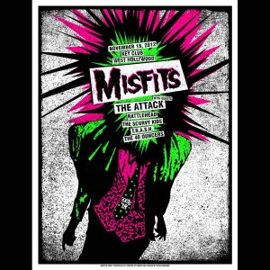Misfits West Hollywood Screen Printed Poster 2012-0