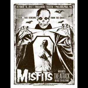 Misfits Philadelphia 2012 Screen Printed Poster-0