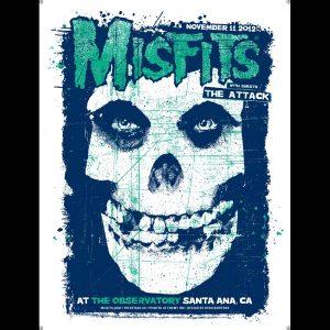 Misfits Santa Ana Screen Printed Poster 2012-0