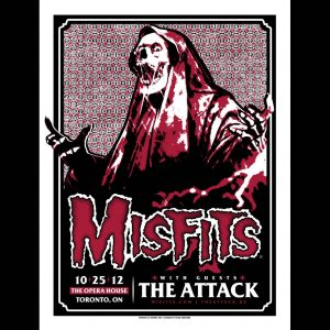 Misfits Toronto Ontario Screen Printed Poster 2012-0