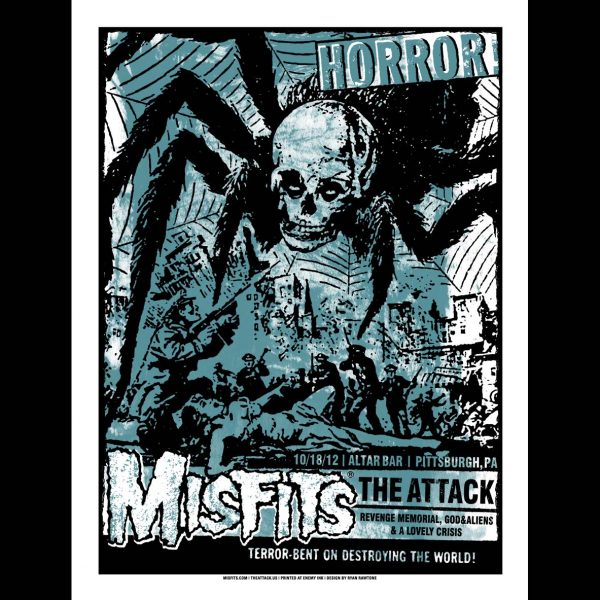 Misfits Poster Pittsburgh, PA 2012 screen printed poster-0