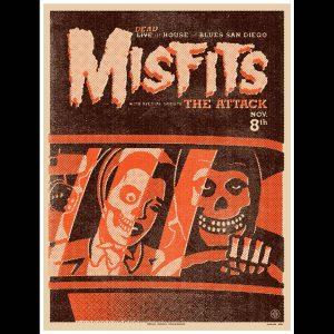 Misfits San Diego 2012 Screen Printed Poster-0