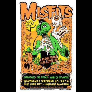 Misfits New York City Halloween 2012 Poster-0
