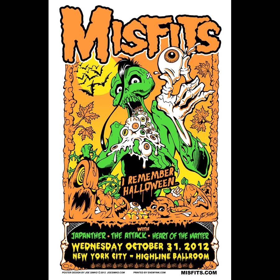 Misfits New York City Halloween 2012 Poster – Enemy Ink