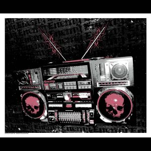 Enemy Boombox Art Print-0