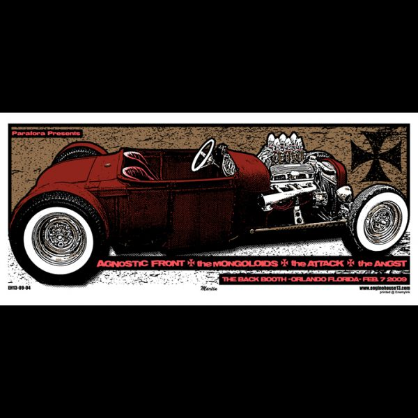 Agnostic Front screen printed poster-0
