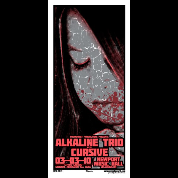 Alkaline Trio screen printed poster-0