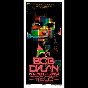Bob Dylan screen printed poster-0