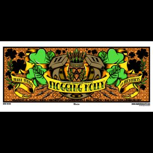 Flogging Molly screen printed poster. Featuring Frank Turner-0