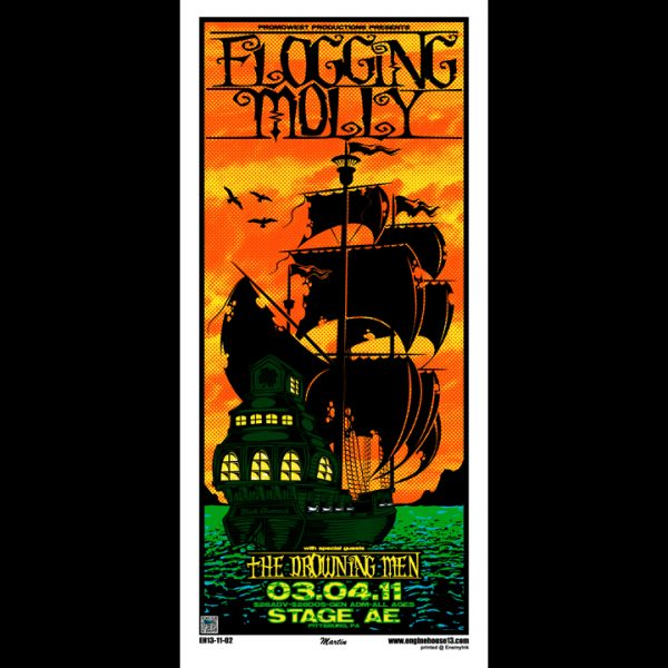 Flogging Molly screen printed poster-0