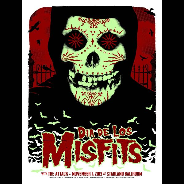 Misfits Sayreville New Jersey 2013 Screen Printed Poster-0