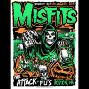 Misfits Halloween 2013 Boston screen printed poster-0