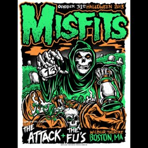 Misfits Halloween 2013 Boston screen printed poster-0