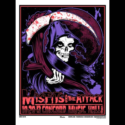 Misfits Chicago 2013 screen printed poster-0