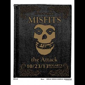 Misfits Cincinnati 2013 screen printed poster-0